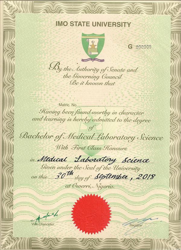 IMSU certificate collection