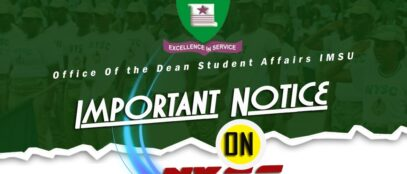 Important Notice from Office of the Dean, Student Affairs Division, IMSU.