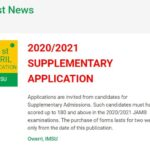 IMSU Commences 2020/2021 supplementary application; see how to apply and list of available courses