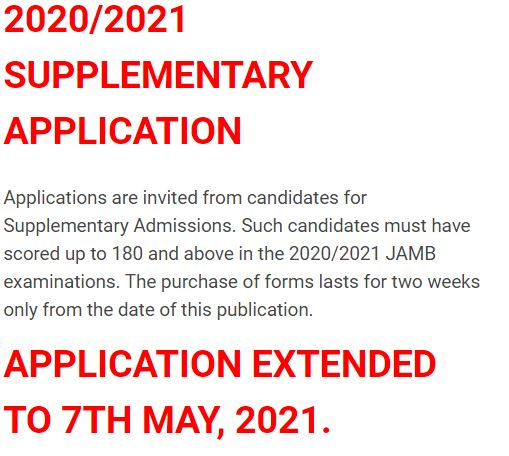 IMSU extends 2020/2021 supplementary form and registration exercise date.
