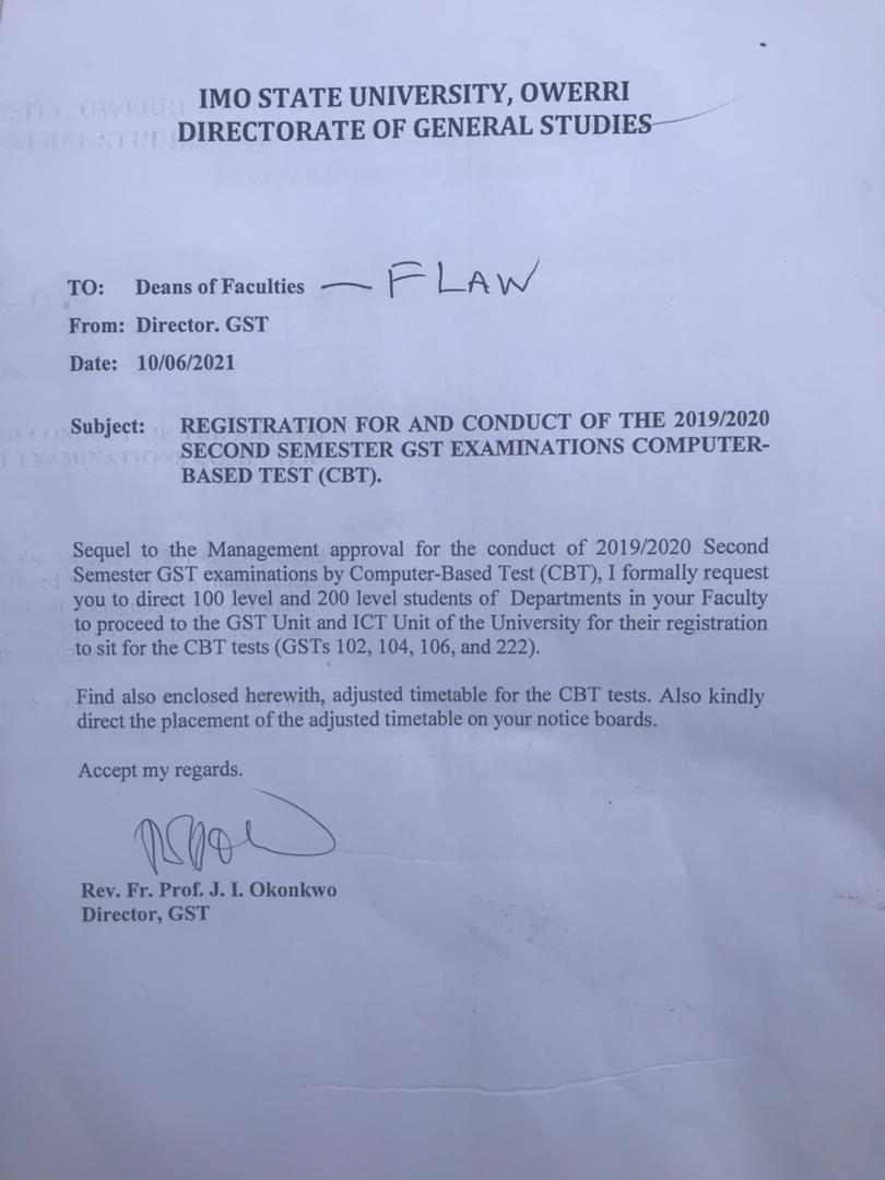 IMSU approves GST exams to be written via computer based test (CBT)