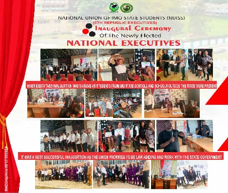 National Union of Imo State Students (NUISS) 8th republic officials inaugurated