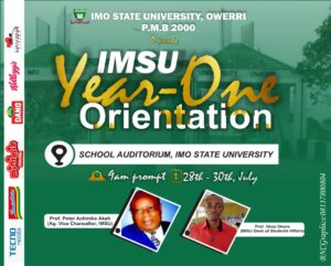 The management of Imo State University, Owerri (IMSU) has made public the date and venue for 2020/2021 newly admitted candidates orientation exercise.
