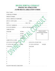 Regularization form